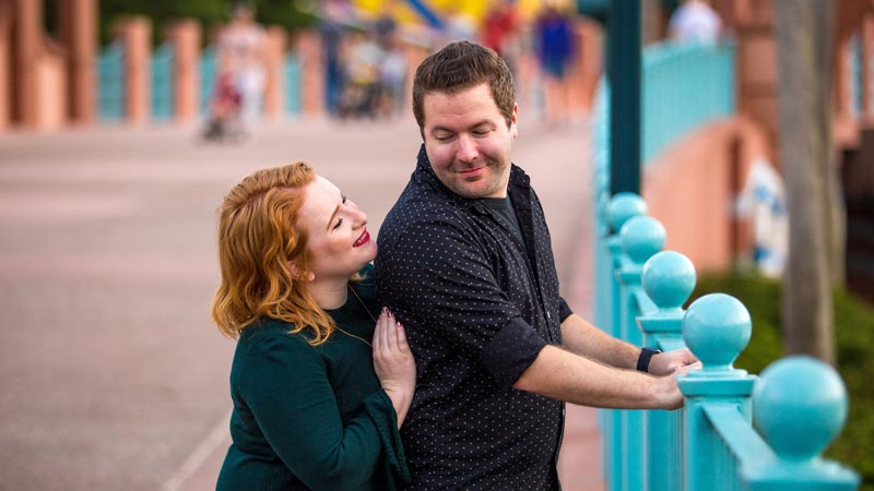 Couple portraits at Disney World