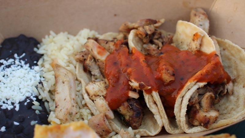 Chicken tacos La Cantina Epcot