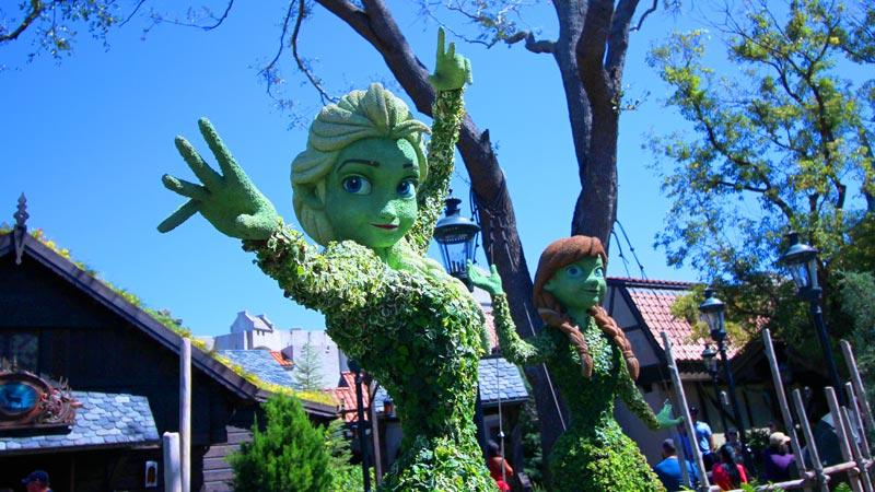 Elsa Epcot Flower and Garden Festival