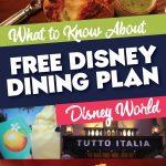 Information on Free Disney Dining Plan