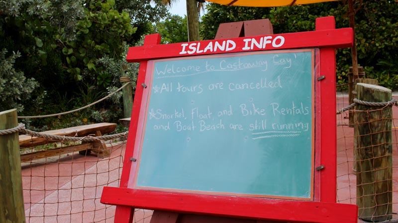 Castaway Cay Island Info Board