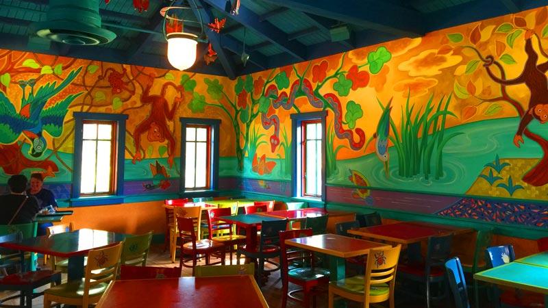 Inside Pizzafari Animal Kingdom