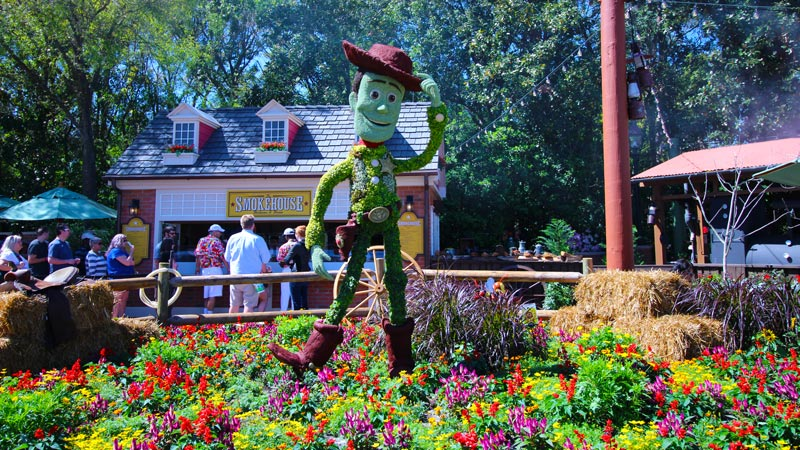 Woody from Toy Story Topiary