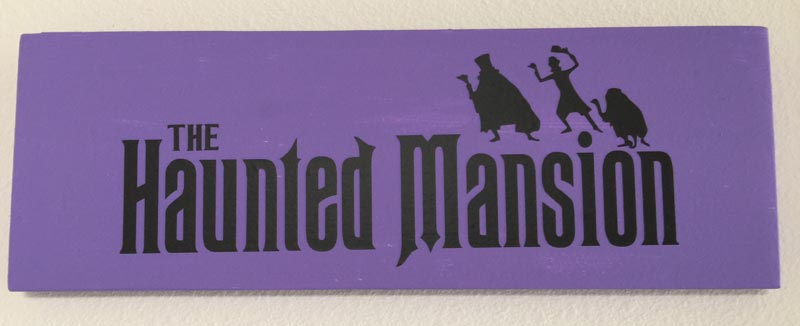 Wooden Haunted Mansion Sign