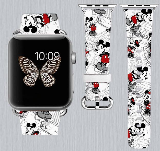 Mickey Comic Strip Apple Watch Band