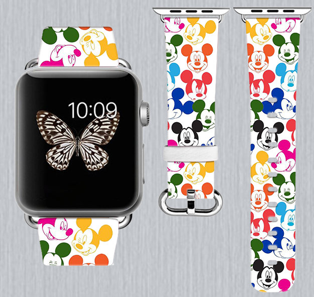 Multi Color Mickey Apple Watch Band