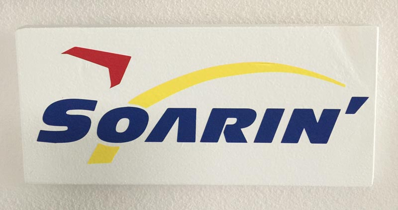 Wooden Soarin Sign
