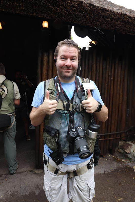 Fully geared up for the Wild Africa Trek