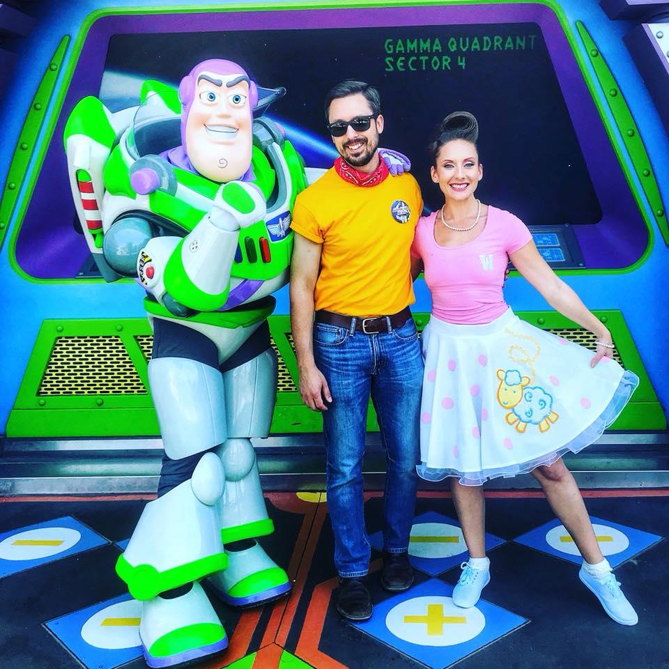 Disney World in April-buzz lightyear photo op