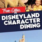 Free Disneyland Character Dining