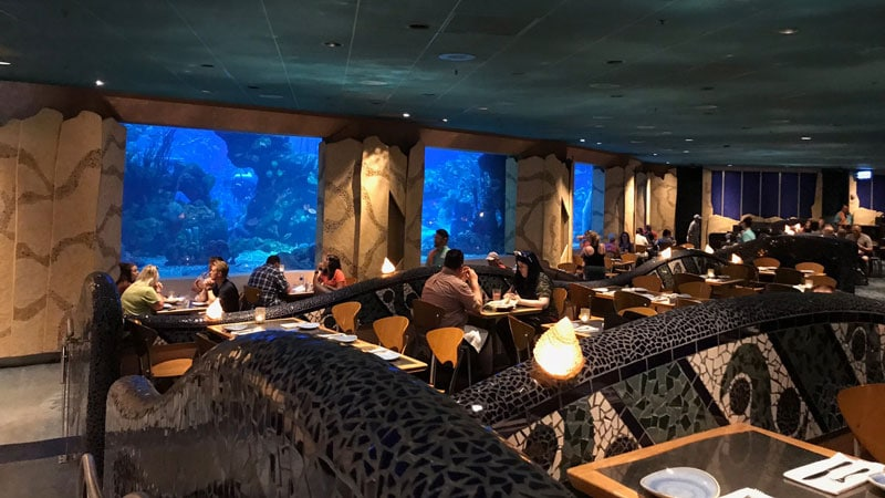 Seating inside Coral Reef Epcot
