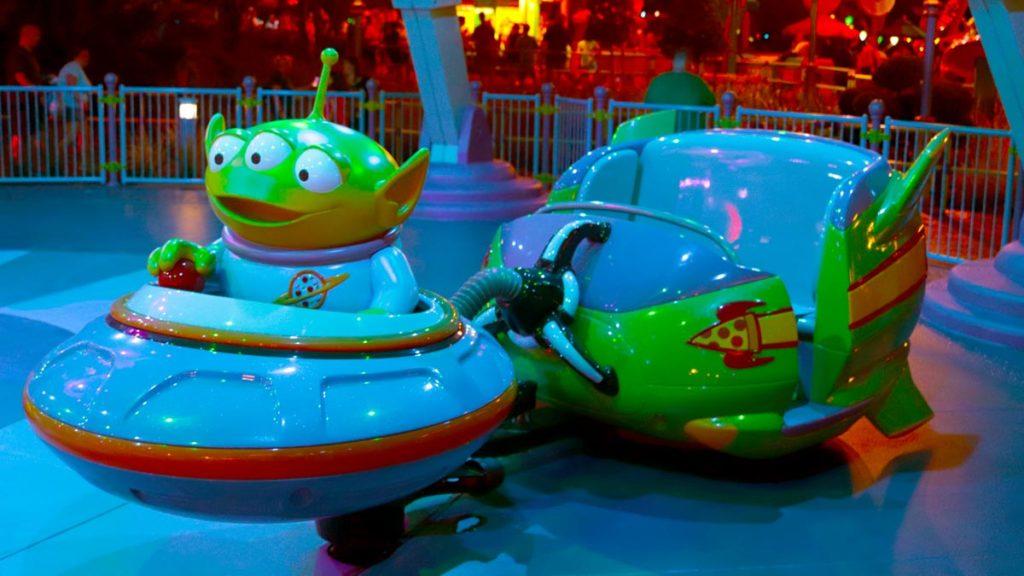 Car on Alien Swirling Saucer