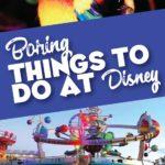 Boring things at Disney World