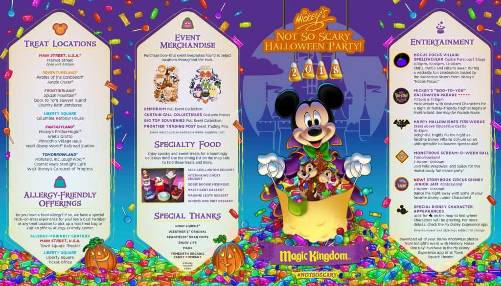 Mickey's Not So Scary Halloween Party Map