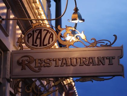 Plaza Restaurant Outside Sign