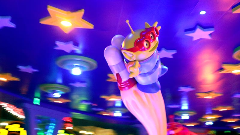 Alien from Toy Story Swirling Saucer