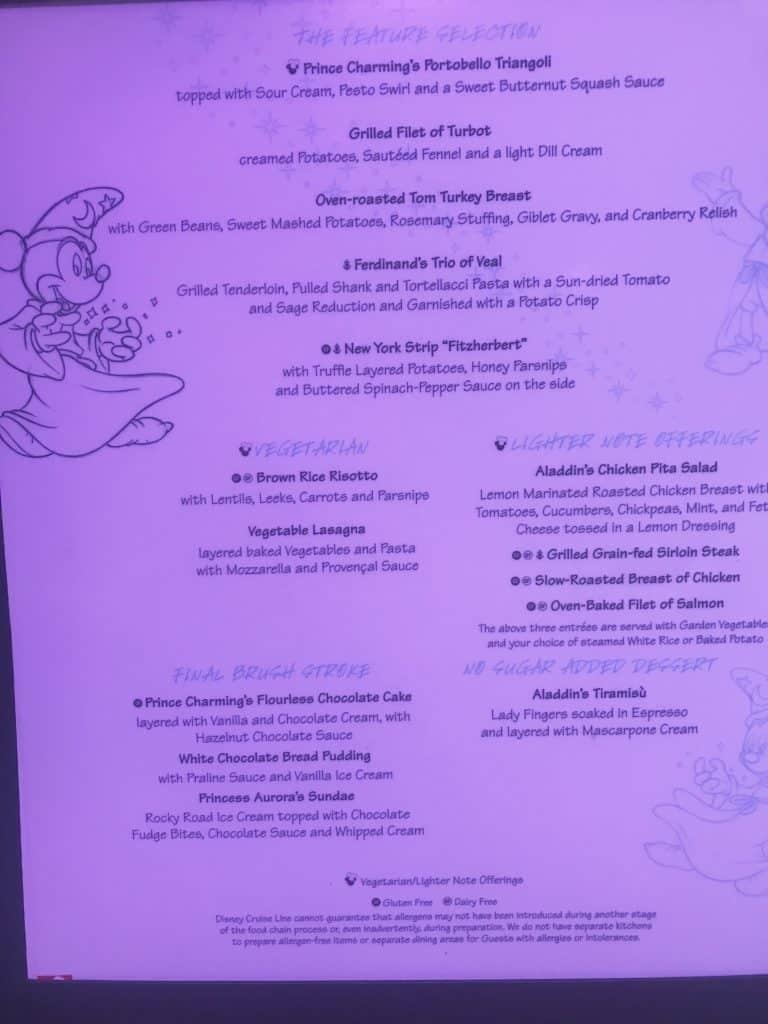 Disney Cruise Line Rotational Dining Aboard the Disney Fantasy 27