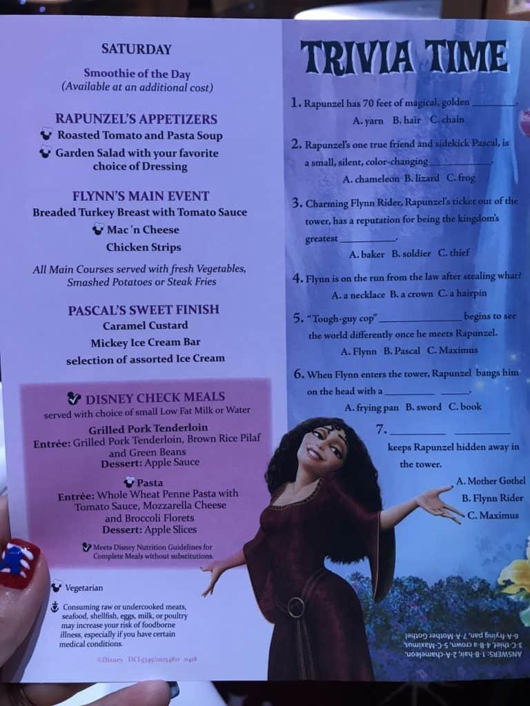 Disney Cruise Line Rotational Dining Aboard the Disney Fantasy 10