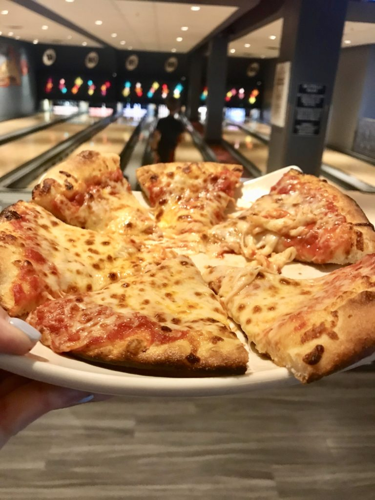 Pizza at Splitsville