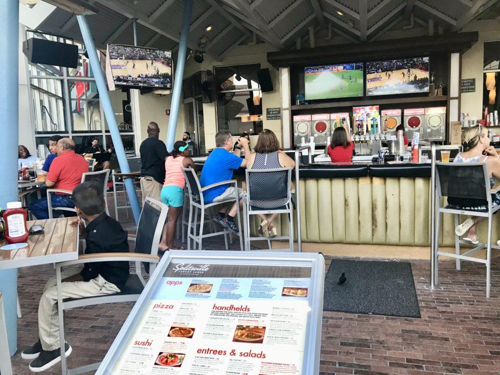 Outside Bar at Splitsville Disney Springs
