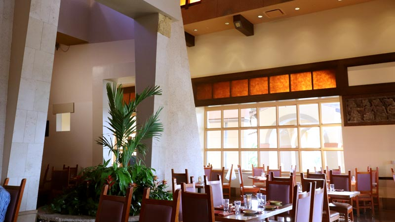 Inside seating at the Maya Grill