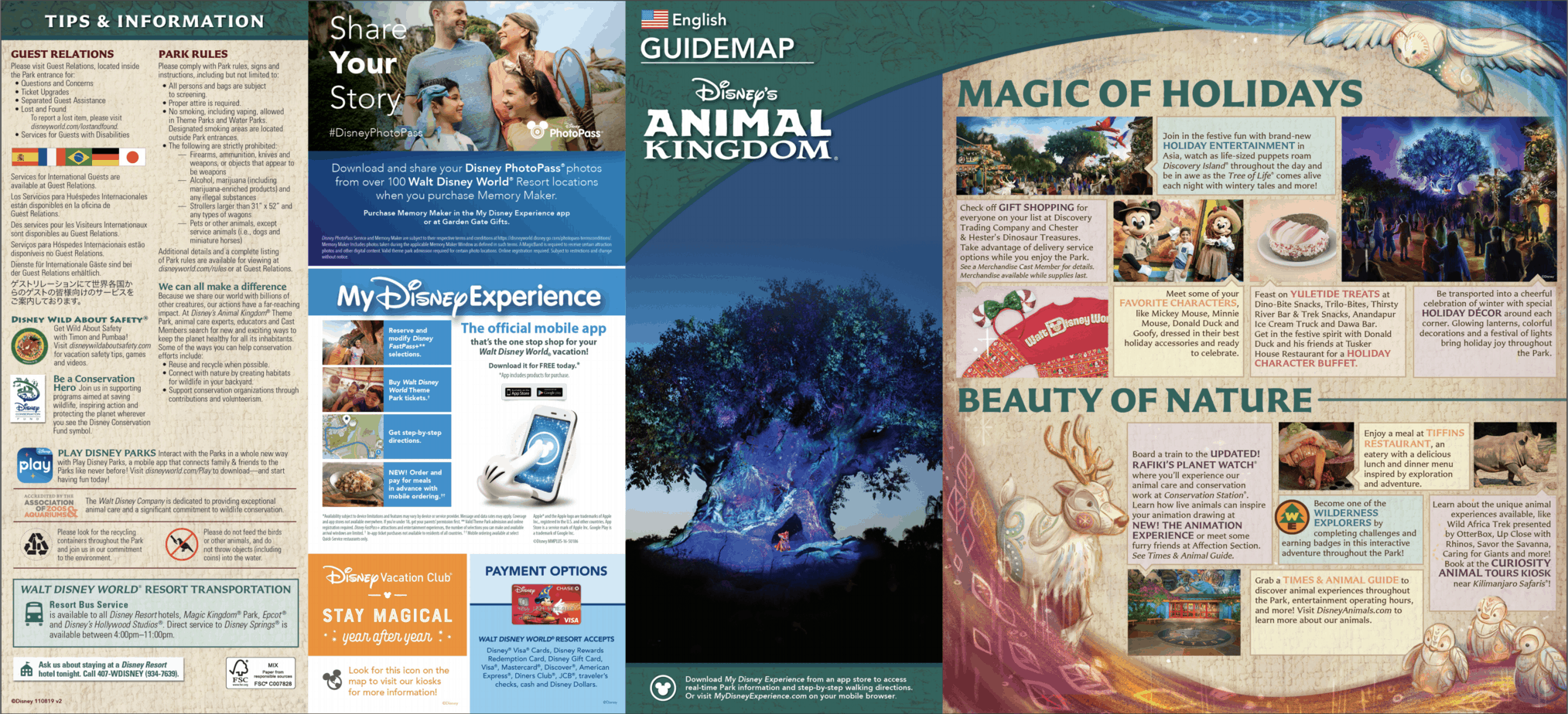 Animal Kingdom Map Disney World 2