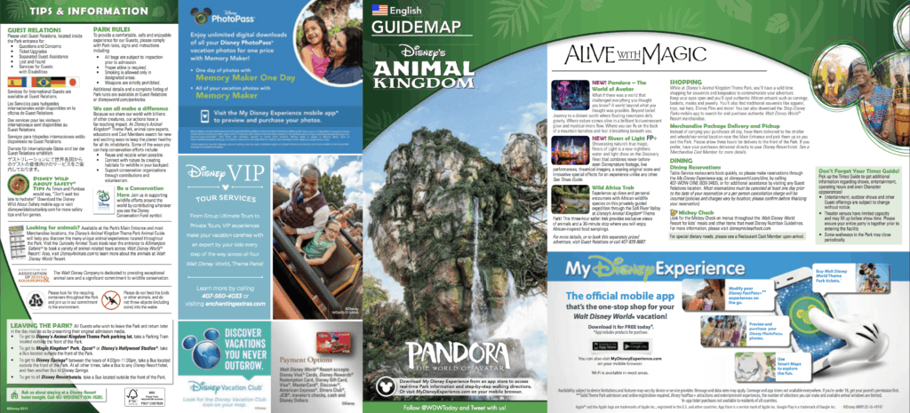 Animal Kingdom Map 2018