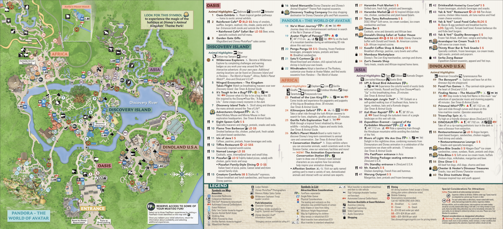 Animal Kingdom Map Disney World 1
