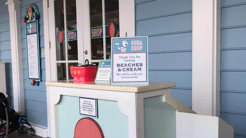 Check in Podium at Beaches and Cream
