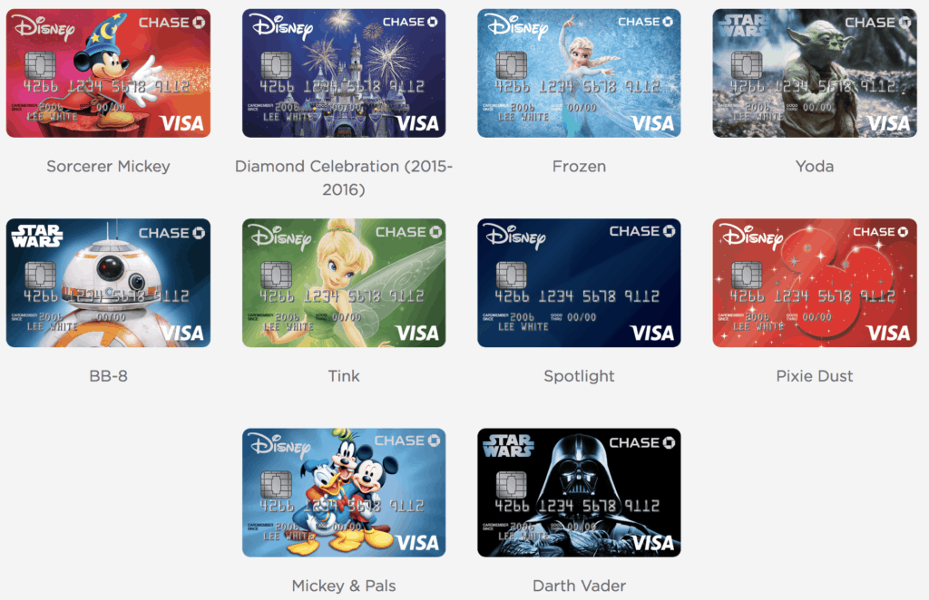 Disney Visa Card Design Options