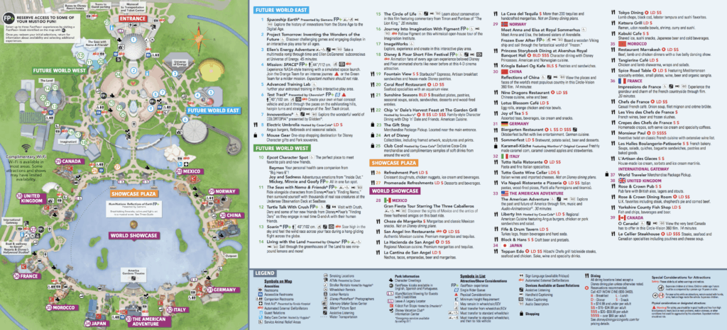 Epcot Map Disney World • WDW Vacation Tips