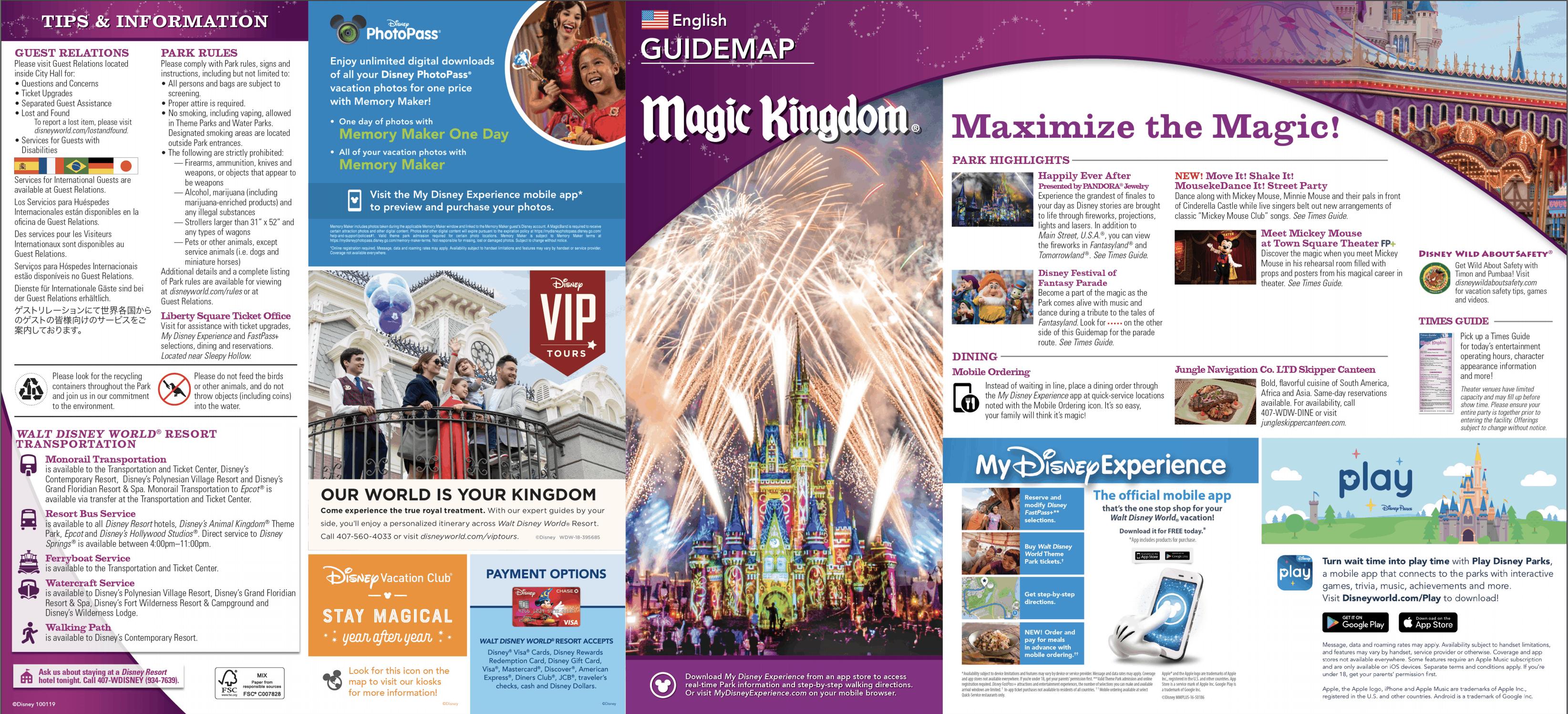 Magic Kingdom Map Disney World • WDW Vacation Tips