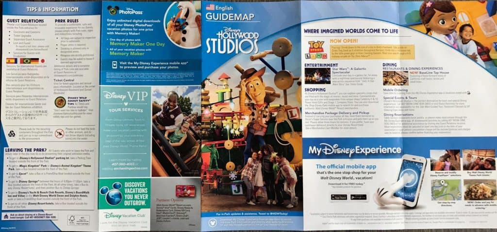 Hollywood Studios Map Disney World • WDW Vacation Tips