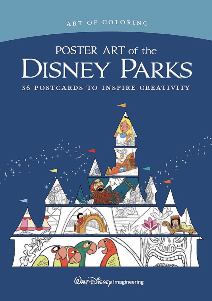 Disney Park Posters Coloring Books