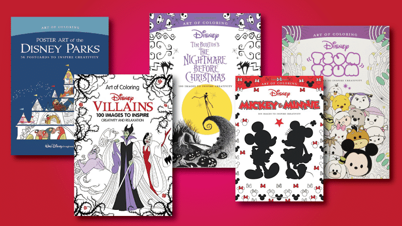 Therapeutic Disney Adult Coloring Books • WDW Vacation Tips