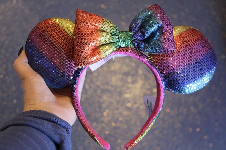 Rainbow Minnie Mouse Ears