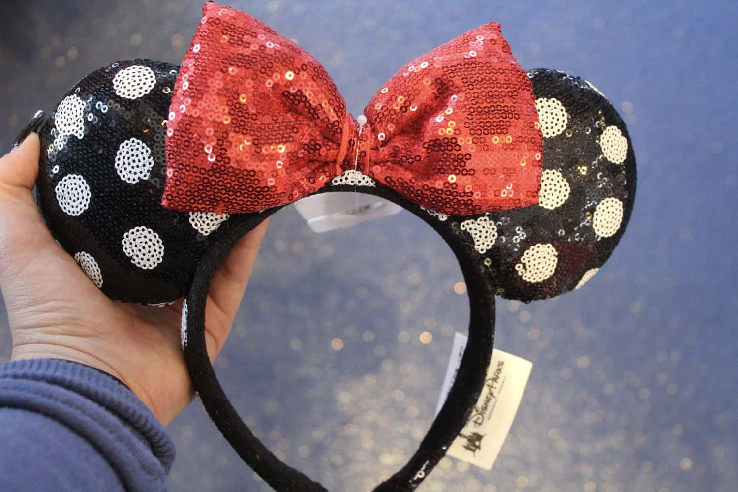Minnie Mouse sequin ears