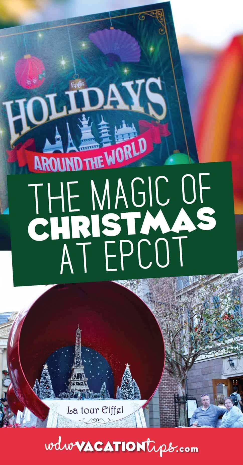 Christmas at Epcot Disney World