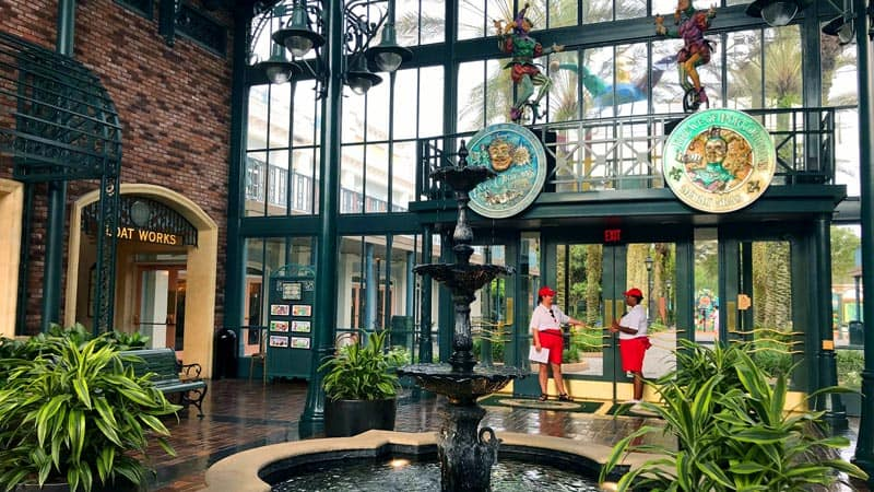 Lobby at Port Orleans French Quarter