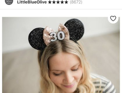 The Cutest Minnie Ears you can Buy on Etsy 7