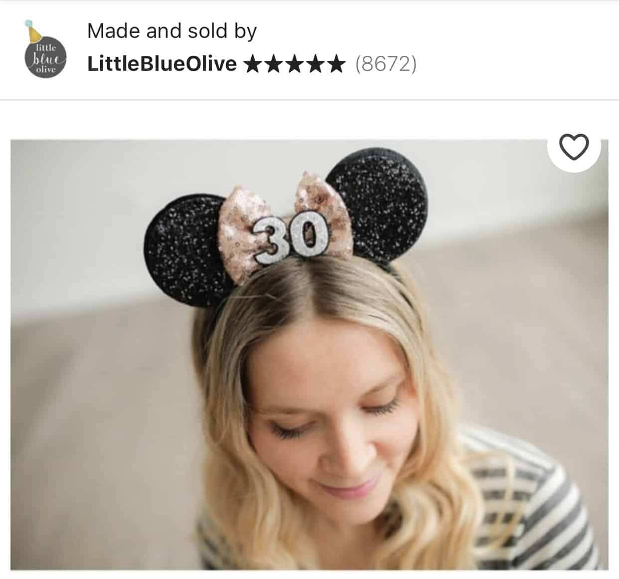 The Cutest Minnie Ears you can Buy on Etsy 17