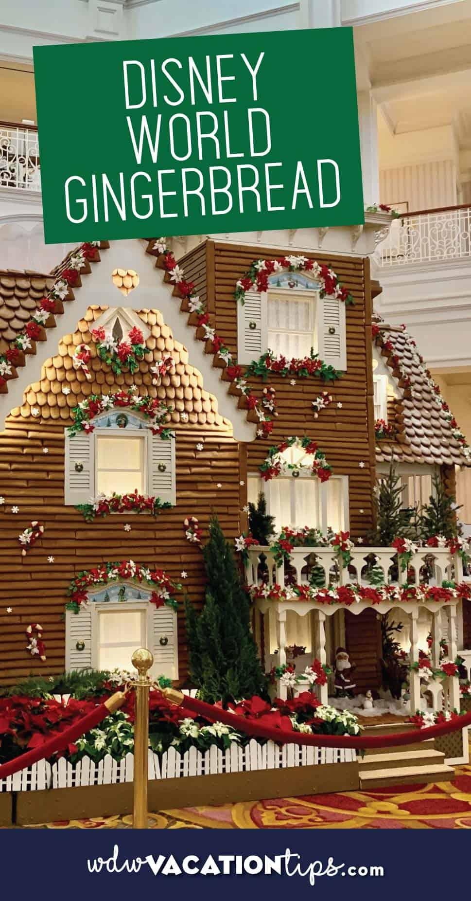 Disney World Gingerbread displays