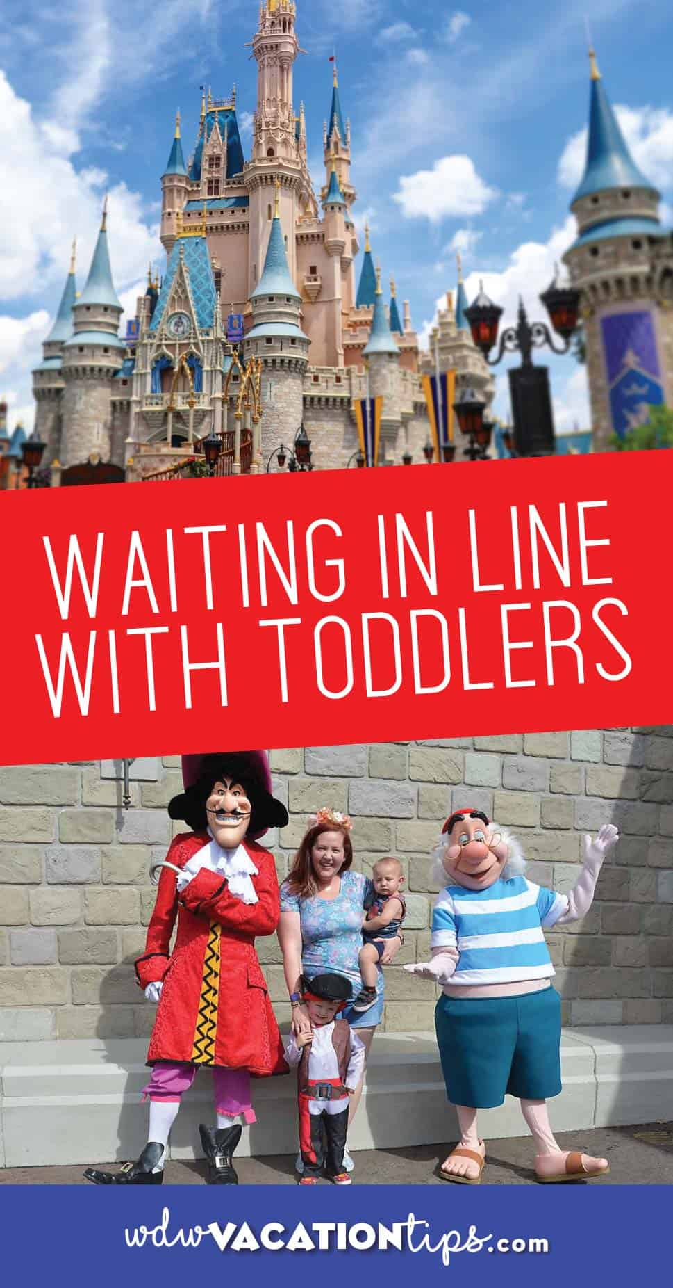 Waiting in line at Disney with toddlers