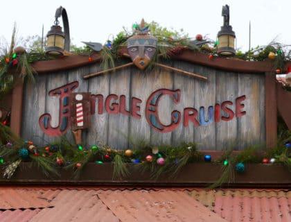 Jingle Cruise entrance sign