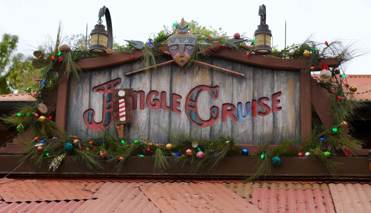 Jingle Cruise entrance sign