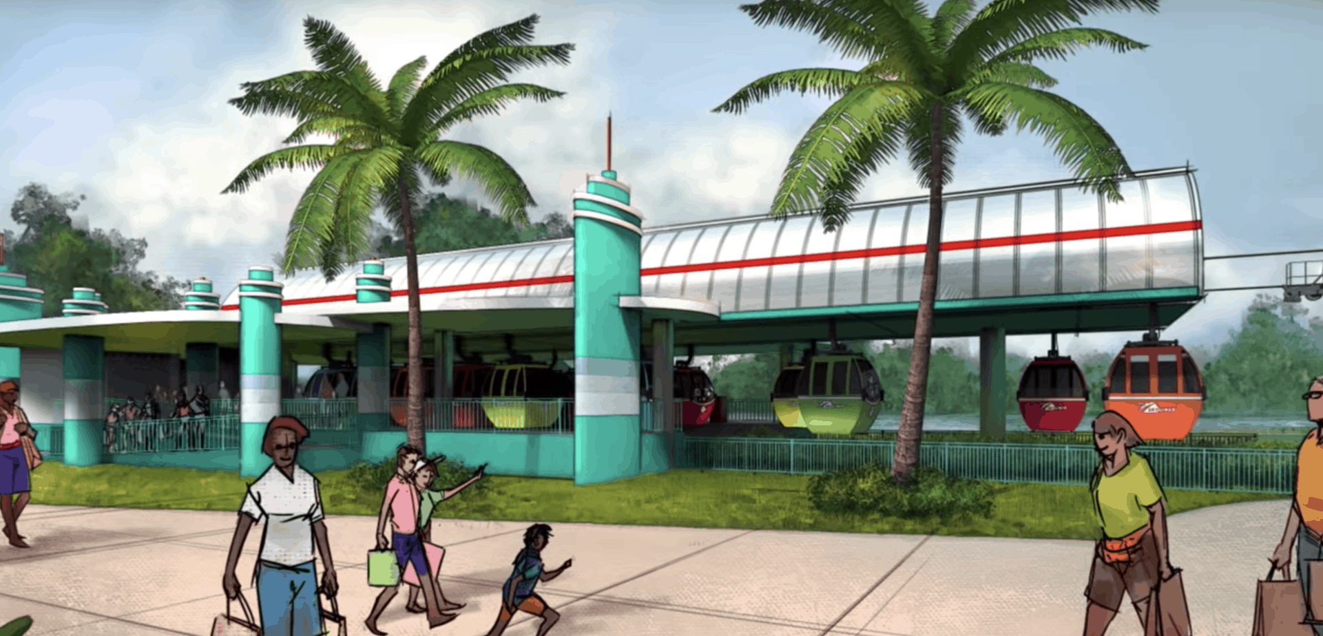 Disney Skyliner Station at Hollywood Studios