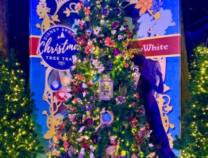 Snow White Christmas Tree from Disney Springs Christmas Tree Trail
