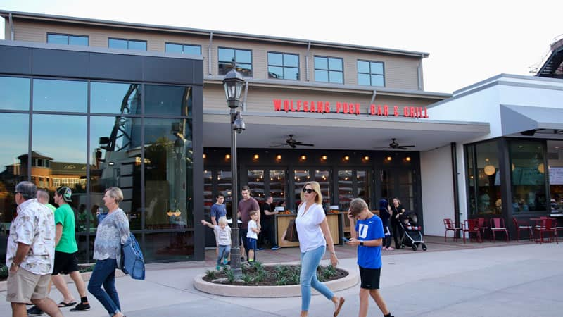 Outside of Wolfgang Bar and Grill at Disney Springs