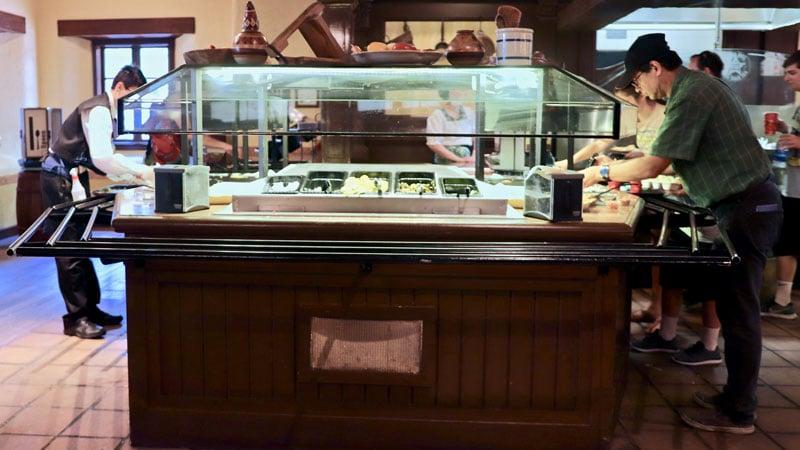 Toppings bar at Pecos Bills Cafe Magic Kingdom