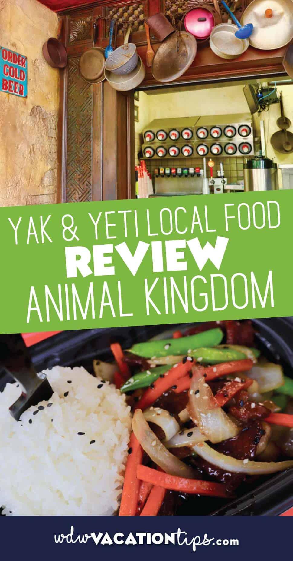 yak and yeti local food cafe